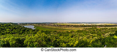 Lewis and Clark Park - A view of Omaha, Nebraska and the...