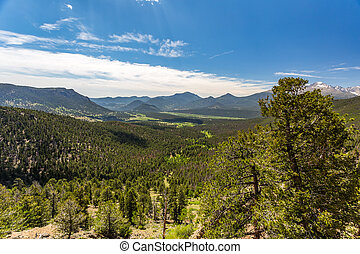 Many Parks Curve Overlook in Rocky Mountain National Park -...