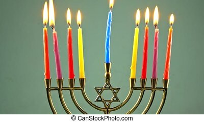 jewish holiday Hanukkah still life composed of elements the...