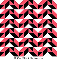 65-2 - Seamless Geometric Pattern. Vector Black and Red...