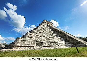 """Chichen, pirámide, itza, """"el, México, sol, Kukulcan, Maya,..."""