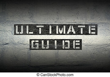 ultimate guide GR - ultimate guide stencil print on the...
