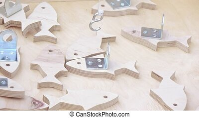Attraction is fishing for wooden fish - Fishing for wooden...