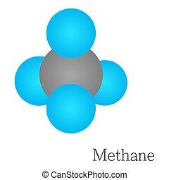 Methane 3D molecule chemical science - Methane 3D molecule....
