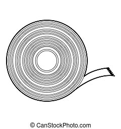 Duct tape icon, outline style - Duct tape icon. Outline...