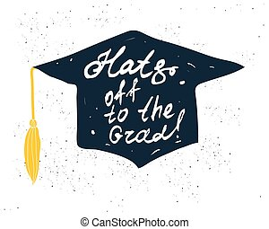 Greeting Card With Congratulations Graduate Completion of...