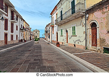 San Vito Chietino, Chieti, Abruzzo, Italy: street in the old...