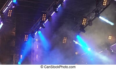 Light equipment on concert