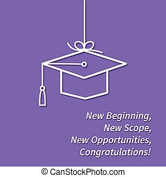Greeting card with congratulations Graduate completion