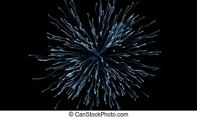 Abstract particles - Slowly exploding particles in the air.