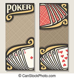 Vector vertical banners for Poker