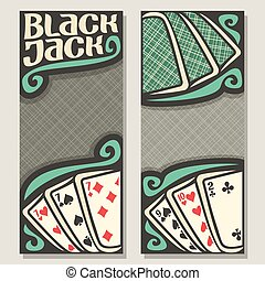 Vector banners for Blackjack