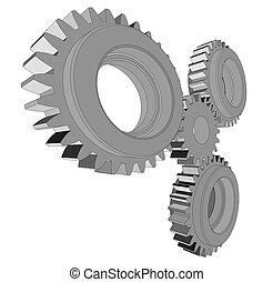 Metal cog wheel