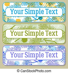 Color Tags with Pine Branch, Set
