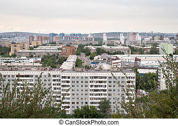 View of a common Russian city