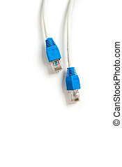 Network cable with RJ 45 connector