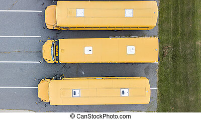 School Busses Parked At School