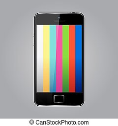 Mobile phone with tv test pattern screen