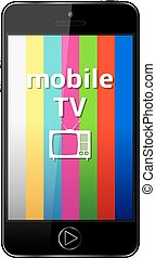 Mobile Phone with Mobile TV sign