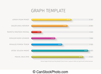 Vector column horizontal graph template