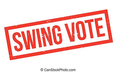 Swing Vote rubber stamp. Grunge design with dust scratches....