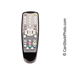 Tv remote control. Isolated on a white background.