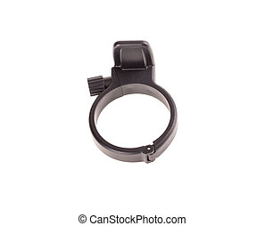 Black tripod mount ring. Isolated on a white background.
