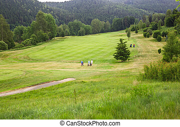 Golf course in the countryside. - Golf course in the...