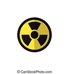 Isolated Radiation Flat Icon. Irradiation Vector Element Can...