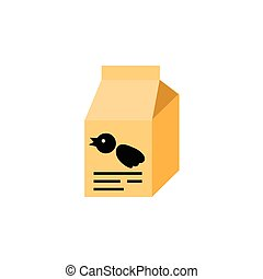Isolated Sparrow Meal Flat Icon. Nutrition Box Vector Element Can Be Used For Bird, Food, Box Design Concept.