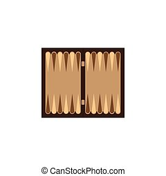 Isolated Backgammon Flat Icon. Dice Vector Element Can Be...