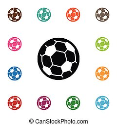 Isolated Ball Icon. Football  Vector Element Can Be Used For Football, Soccer, Ball Design Concept.