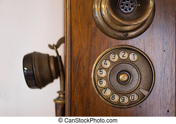 Old wooden phone