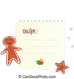 Christmas banner / recipe - Christmas recipe with cookies...