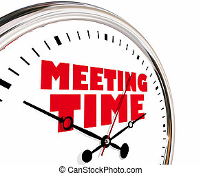 Meeting Time Appointment Joint Discussion Clock Hands...