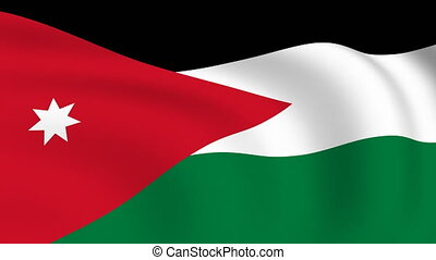 Flying Flag of JORDAN | LOOPED |
