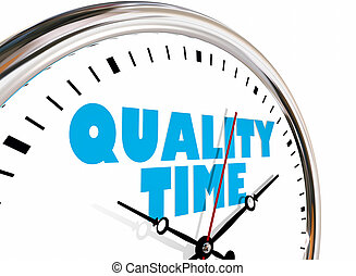Quality Time Personal Life Free Moments Clock Hands Ticking...