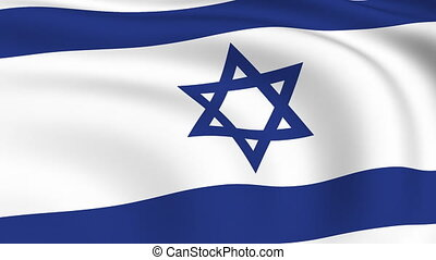 Flying Flag of ISRAEL | LOOPED |