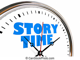 Story Time Storytelling Narrative Clock Hands Ticking 3d...