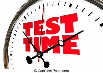 Test Time Exam Testing Examination Clock Hands Ticking 3d...