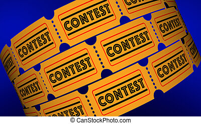 Contest Competition Enter to Win Tickets 3d Illustration