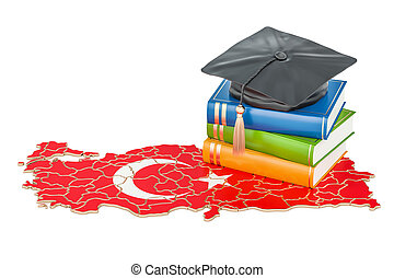 Education in Turkey concept, 3D rendering