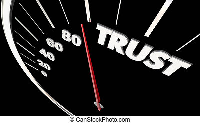 Trust Honesty Reliable Speedometer Measure Results 3d Illustration