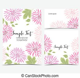Background of pink flowers and leaves