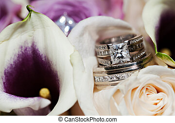 Wedding Rings - Beautiful Wedding Rings placed inside a...