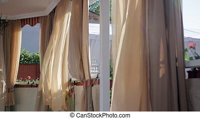 Curtains in Bower are Fluttering on the Wind