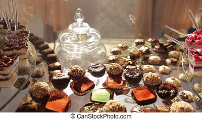 Delicious Wedding Reception Candy Dessert Table - Delicious...