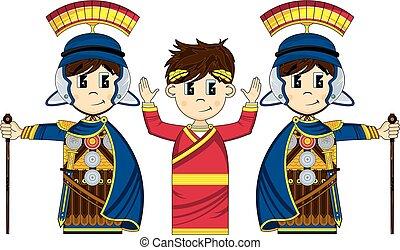 Roman Soldiers & Emperor