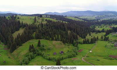 Mountain village landscape - Aerial view of the village...