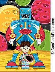 Robot & Little Spaceman